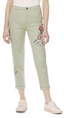 F&F Mid Rise Embroidered Skinny Trousers 18 Regular leg