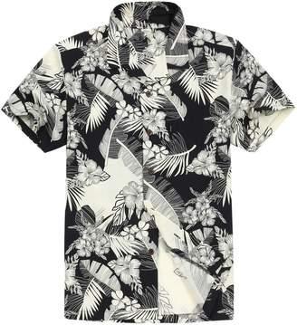 Gocgt Men Color Block Button Down Long Sleeve Business Dress Shirt Top