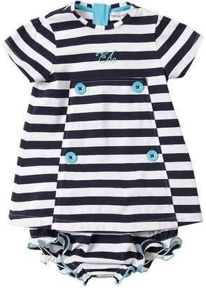 Emporio Armani Striped Jersey Dress & Diaper Cover