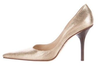 Michael Kors Collection Embossed Pointed-Toe Pumps