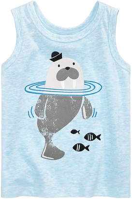 First Impressions Baby Boys Walrus-Print Tank Top, Created for Macy's