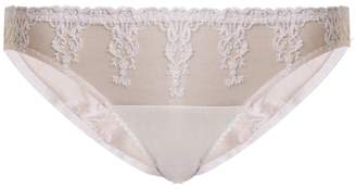Fleur of England Colette embroidered-tulle and satin briefs