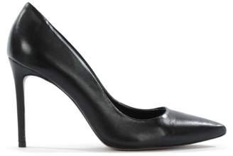 Diane von Furstenberg By Daniel Skycrambe Black Leather High Court Shoe