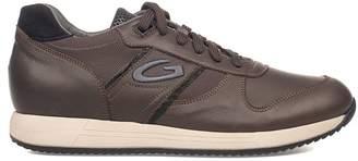 Alberto Guardiani Brown Sport Man Fresno Leather Sneakers