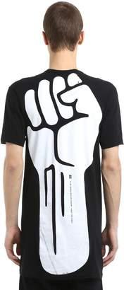 11 By Boris Bidjan Saberi Fist Printed Cotton Jersey T-Shirt
