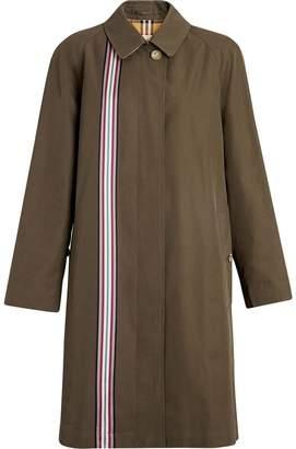Burberry Collegiate Stripe Cotton Gabardine Car Coat