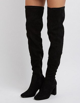 Square Toe Over-The-Knee Boots $49.99 thestylecure.com