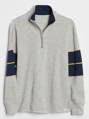 Gap Half-Zip Long Sleeve T-Shirt