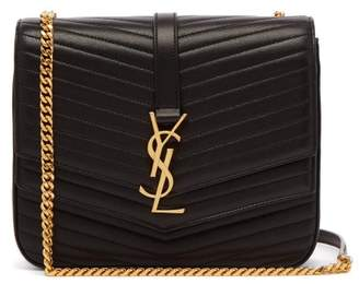 Saint Laurent Sulpice Medium Quilted Leather Cross Body Bag - Womens - Black