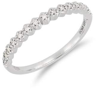 Bony Levy 18K White Gold Prong Set Diamond Accent Ring - 0.08 ctw