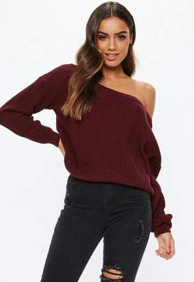 Missguided Off Shoulder Knitted Jumper
