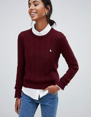 Jack Wills tinsbury cable knit sweater