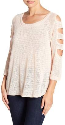 Sweet Romeo Cutout Sleeve Sweater