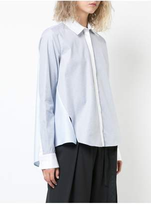 ADAM by Adam Lippes Cotton Jacquard Long Sleeve Trapeze Shirt