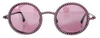 Chanel Pearl Round Sunglasses Pink Pearl Round Sunglasses