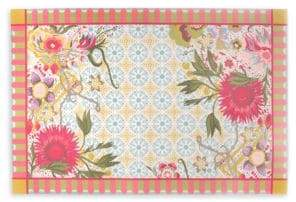 Mackenzie Childs Florabundance Floor Mat