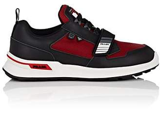 Prada Men s Rubber-Strap Leather   Mesh Sneakers - Red 248625ae9285