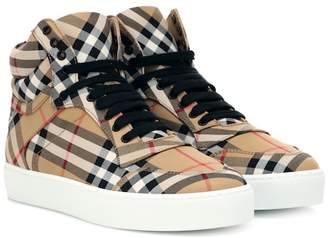Burberry Check high-top sneakers