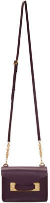 Sophie Hulme Burgundy Nano Milner Crossbody Bag