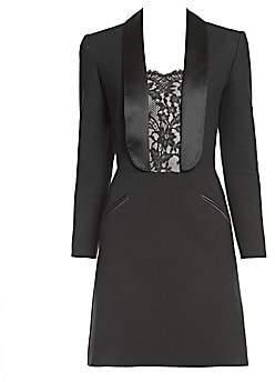 Alexander McQueen Women's Lace Inset Blazer Dress