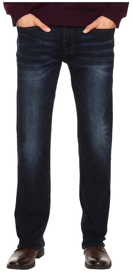Buffalo David Bitton Buffalo David Bitton Six Slim Straight Leg Jeans in Authentic and Deep Indigo