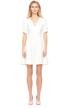 Rebecca Taylor Stretch Textured V-Neck Dress