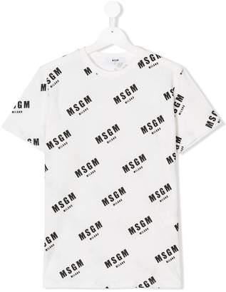 MSGM TEEN logo print T-shirt