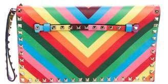 Valentino 1973 Rockstud Flap Clutch