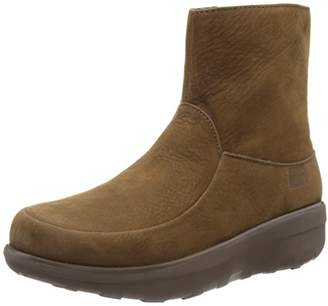 31720046b7c52 FitFlop Women s Loaff Shorty Zip Nubuck Ankle Boots Chocolate Brown)