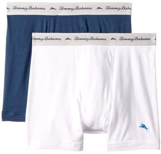 Tommy Bahama Solid Stretch Cotton Comfort Boxer Briefs 2-Pack Men's Underwear