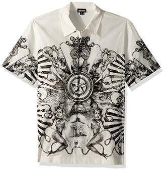 Just Cavalli Men's Graphic Button Down