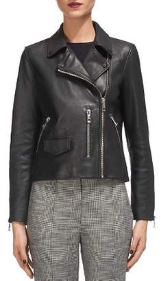 Whistles Agnes Leather Moto Jacket