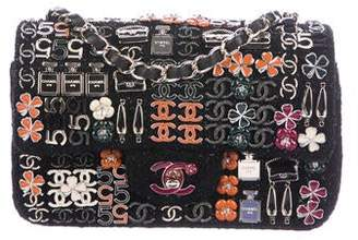 Chanel Enamel Jeweled Tweed Flap Bag