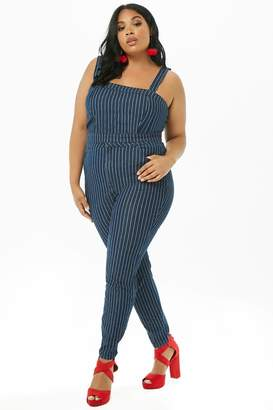 Forever 21 Plus Size Striped Tapered Jeans