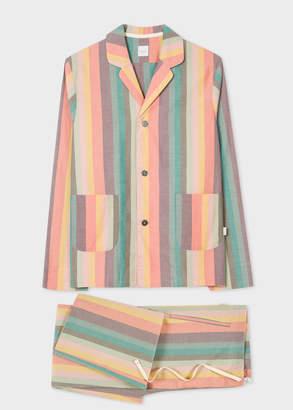 Paul Smith Men's Artist Stripe Cotton Pyjama Set