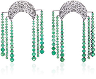 Lauren X Khoo Cosmic Dynasty 18K Gold And Tsavorite Garnet Chandelier Earrings