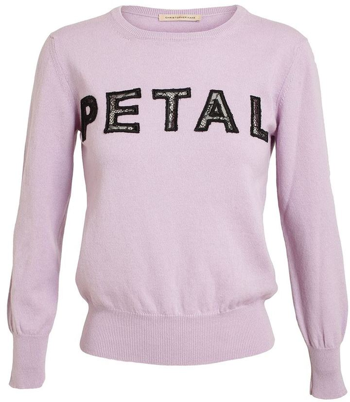 Christopher Kane Petal Cashmere and Lace Sweater