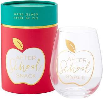 Indigo Stemless Wine Glass After School Snack