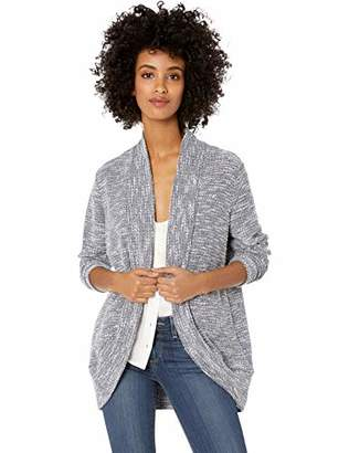 Chaus Women's Long Sleeve Open Front Boucle Cardigan