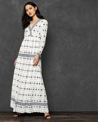 Ted Baker VERIITI Stars and Stripes long sleeve maxi dress