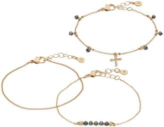 Lauren Conrad Cross & Bead Bracelet Set