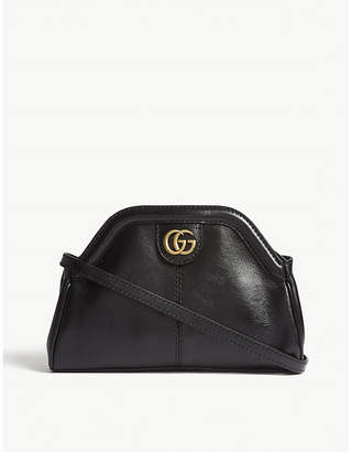 Gucci Ladies Black Linea Leather Shoulder Bag