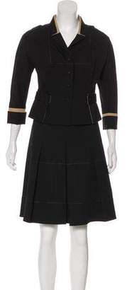 Paule Ka Long Sleeve Button-Up Skirt Set