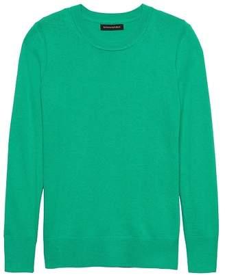 Banana Republic Petite Italian Merino-Blend Crew-Neck Sweater