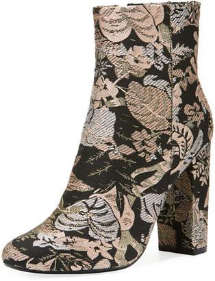 5c59239ec2e Neiman Marcus Bucasia Floral Brocade Booties