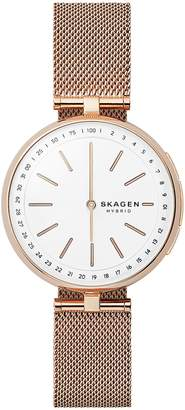 Skagen Women's Hybrid Smartwatch - Signatur T-Bar -Tone Steel-Mesh SKT1404