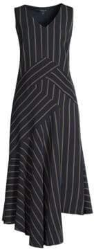 Lafayette 148 New York Women's Ashlena Asymmetric Dress - Ink Multi - Size 12