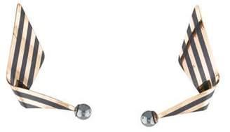 Paul Morelli Two-Tone Flowing Earrings