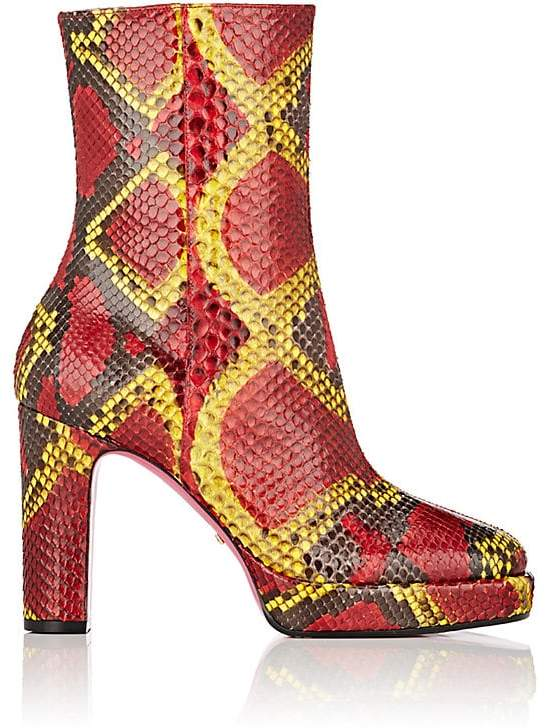 Gucci Women's Python Platform Ankle Boots