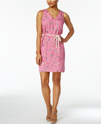 G.H. Bass & Co. Cotton Belted Sheath Dress $79 thestylecure.com